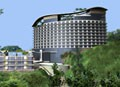 hillside hotel looms for halong bay