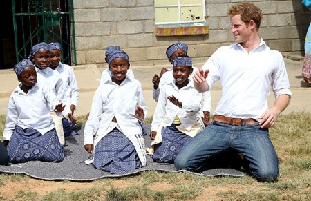 Prince Harry Visits Schoolchildren in Lesotho, Speaks Out in Fight Against HIV/AIDS
