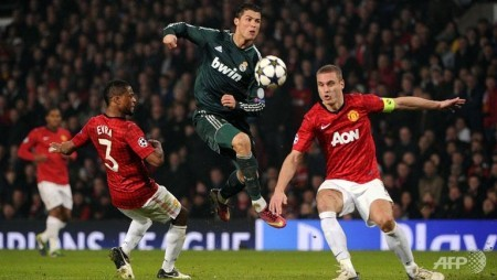 ronaldo sends united out of champions league