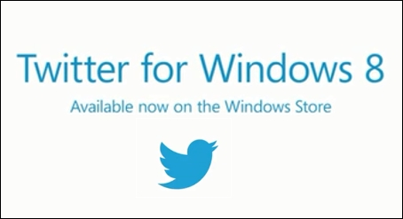 twitter application is ready on windows 8