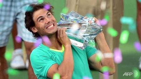 nadal defeats del potro to win indian wells title