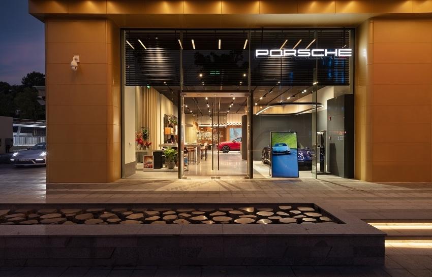 first porsche studio in vietnam at capital place
