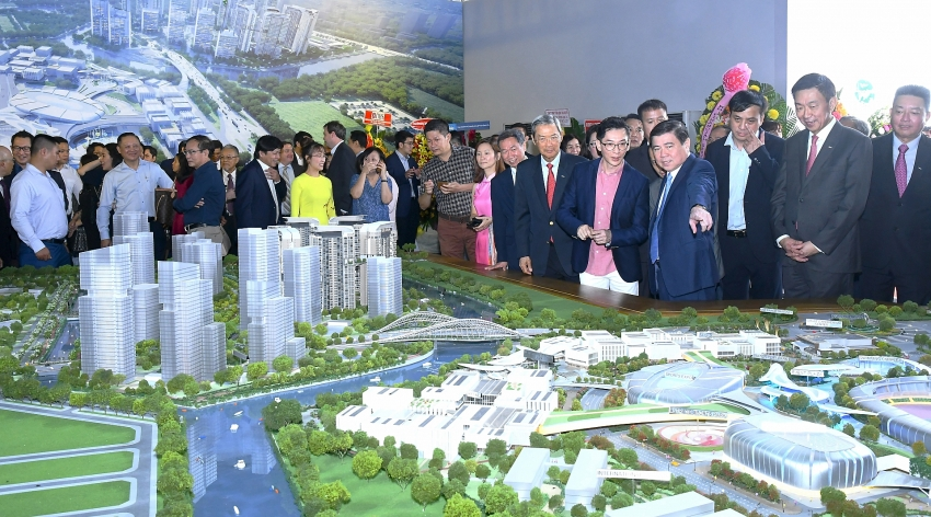 500 million saigon sports city proceeds with a bridge linking north and south areas