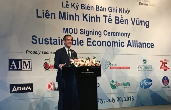 Los Angeles and Ho Chi Minh City establish sustainability alliance