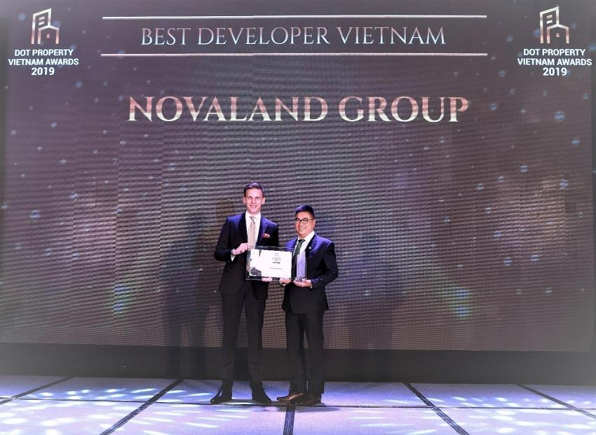 novaland won best developer vietnam at dot property awards 2019