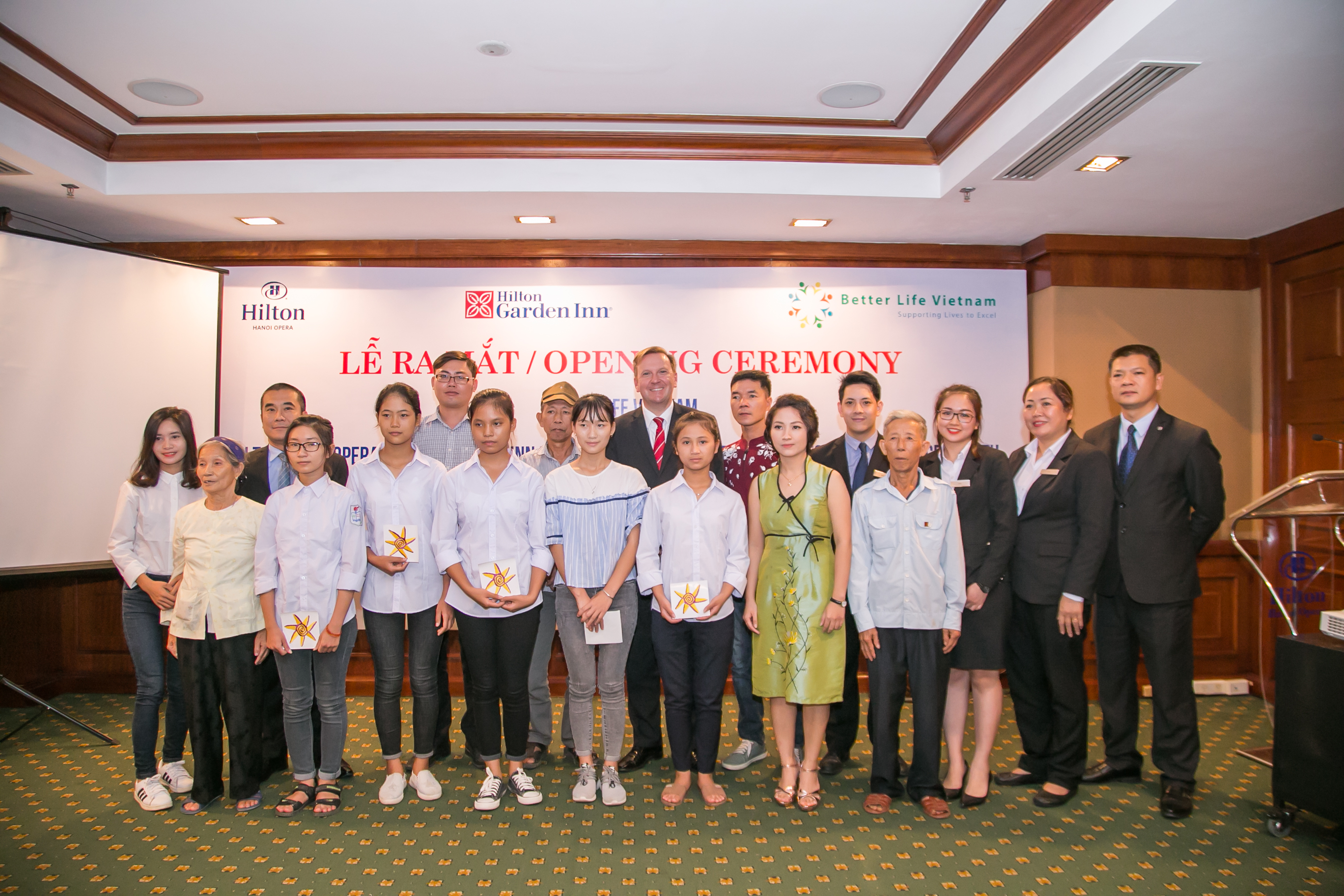 hilton hanoi opera and hilton garden inn hanoi support young people