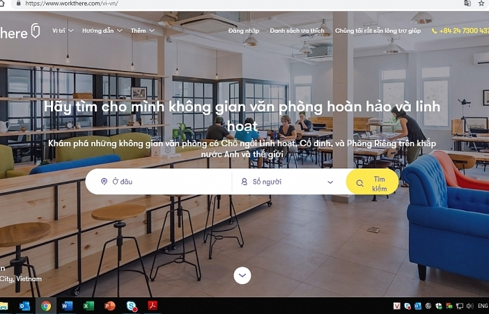 workthere platform opens for flexible office spaces in vietnam