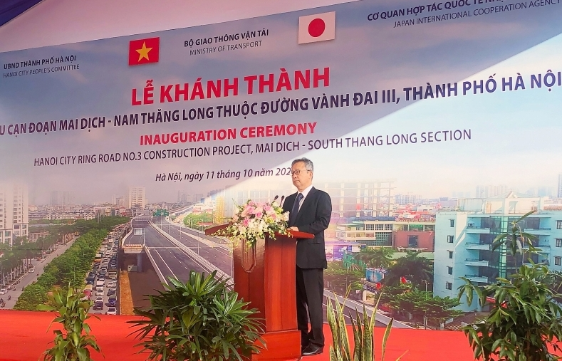 mai dich south thang long section of hanois ring road 3 opens to traffic