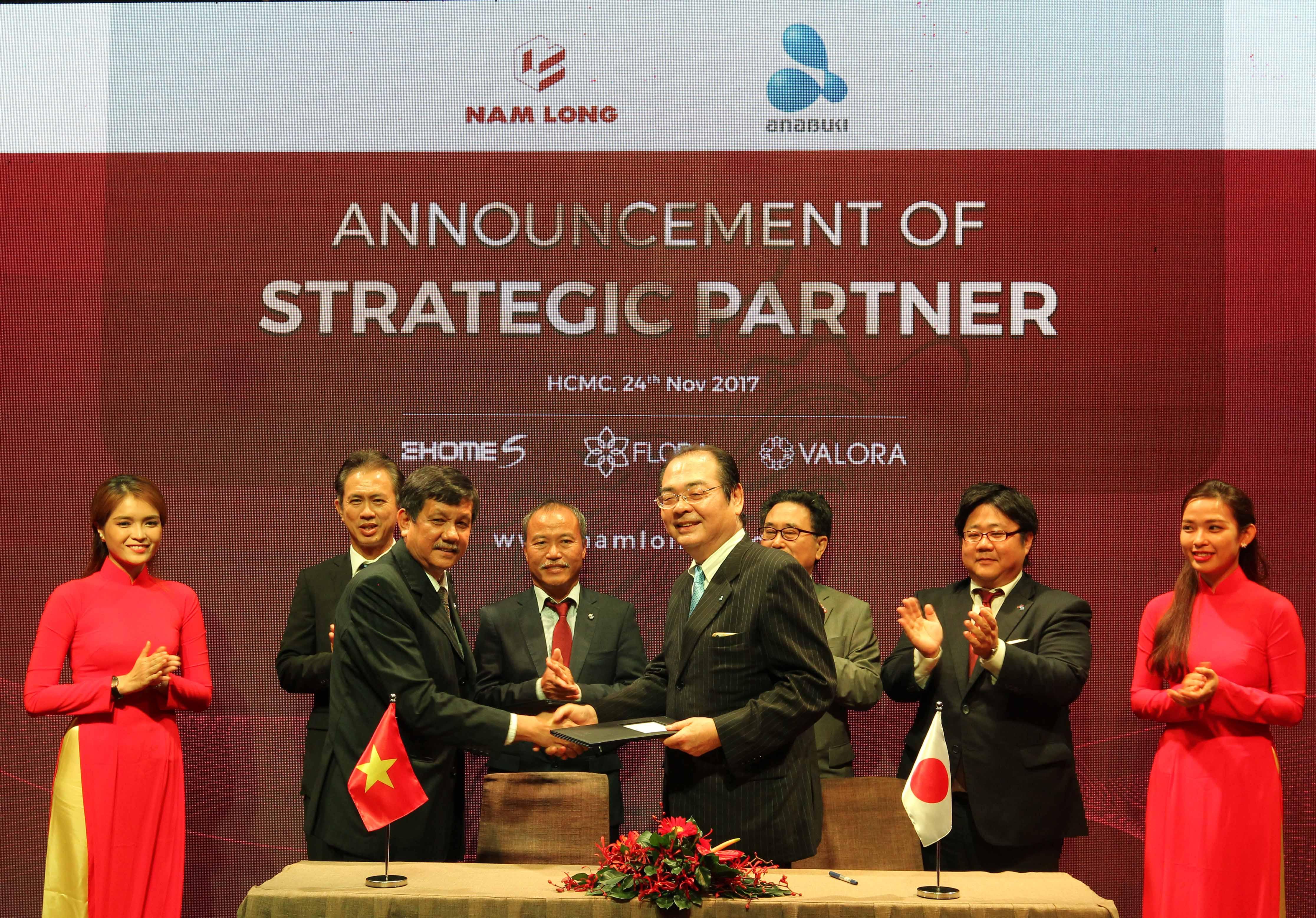 nam long signed strategic partnership with japans anabuki housing