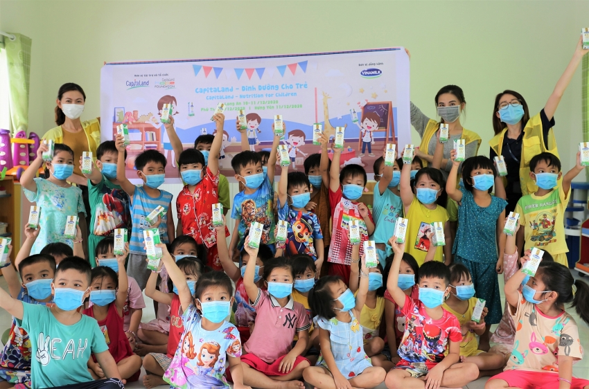 capitaland provides milk to children in primary hope schools and kindergartens