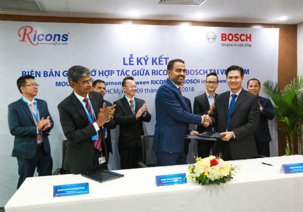 bosch and ricons team up for real estate and construction