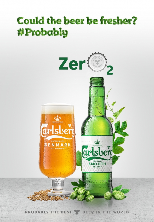 carlsberg launches new high tech zero2 cap for fresher beer