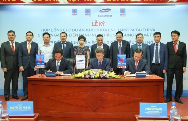 samsung ct and petrovietnam to implement thi vai lng storage