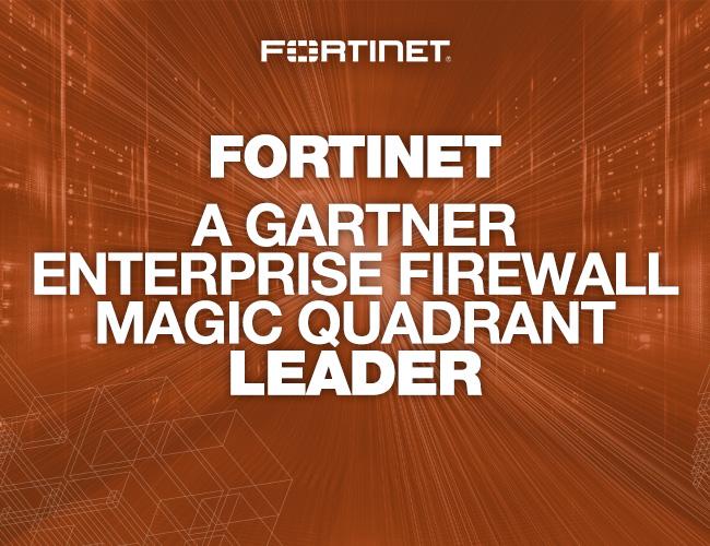 fortinet named a leader in the 2017 gartner magic quadrant for enterprise network firewalls