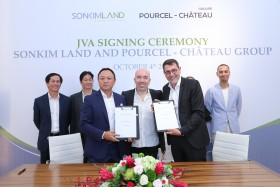 SonKim Land shakes hands with famous food brand Pourcel Château