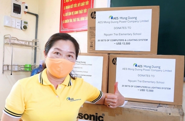 aes mong duongs initiative benefits 1500 local children