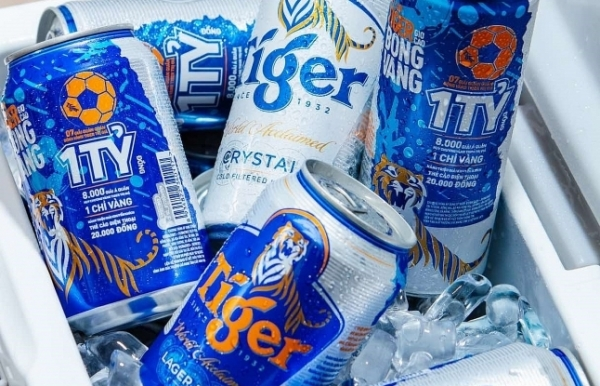 tiger beer presents vietnamese football fans with valuable prizes