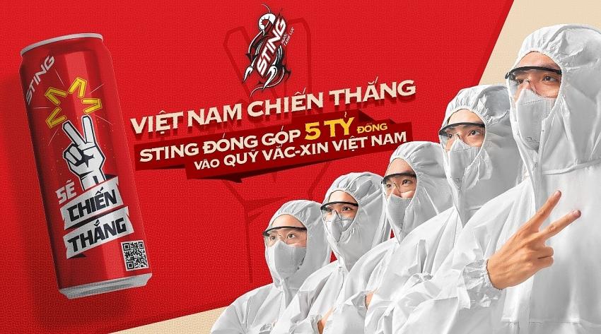 suntory pepsico vietnam sting brand sponsors vnd5 billion for covid 19 vaccine fund