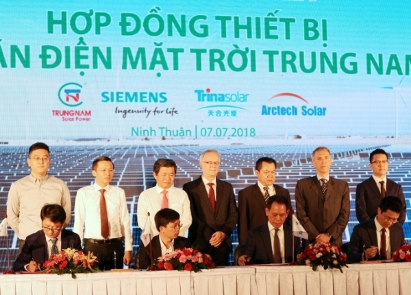 Siemens provides equipment for Vietnam's largest solar farm