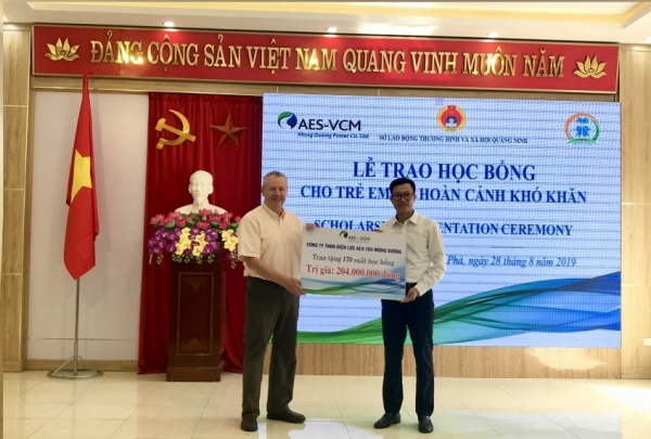 aes vcm mong duong power supports disadvantaged children in cam pha