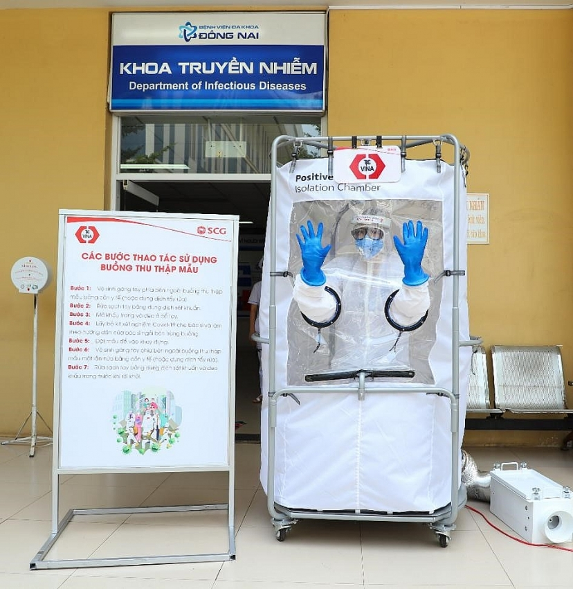 tpc vina donates positive pressure isolation chambers by scg to dong nai