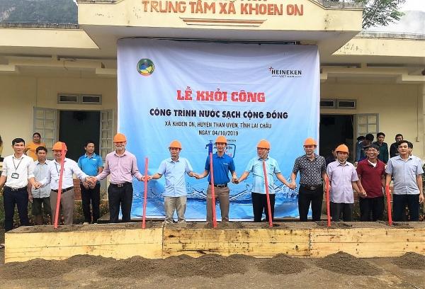 heineken vietnam supports clean water supply in lai chau province