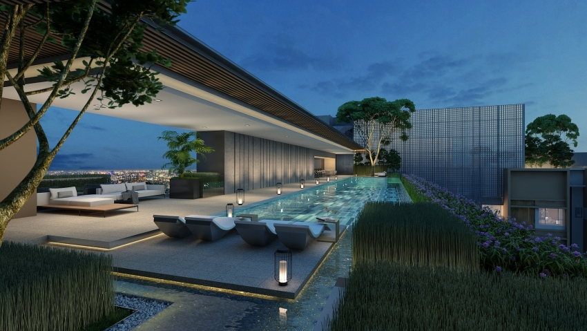 the sky club exclusive resort style amenities at the marq