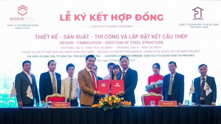 world steel group signing of 10 million package at long son petrochemicals project