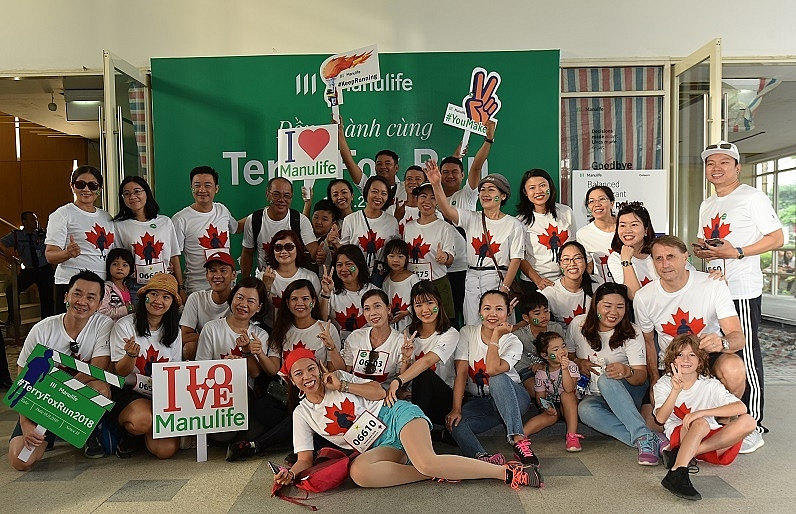 manulife vietnam eagerly joined terry fox run 2018