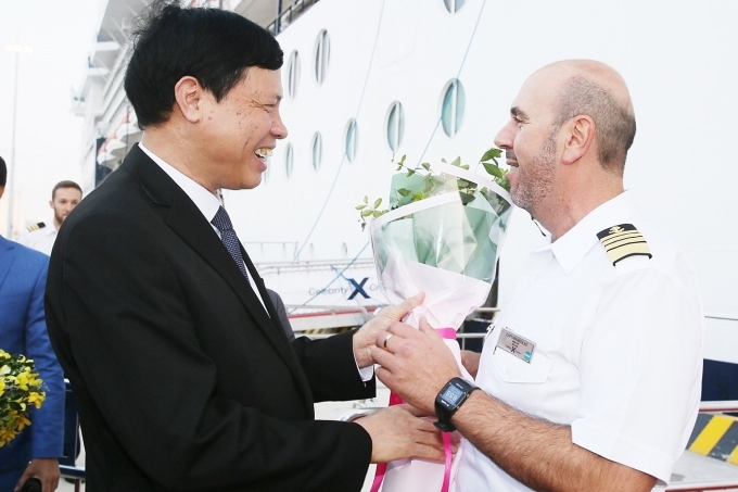 halong international passenger terminal greets first five star cruise