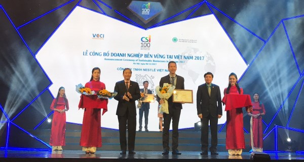 nestle vietnam receives a sustainable business title