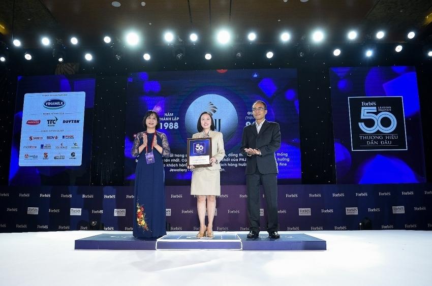 pnj shining in top 50 leading vietnamese brands