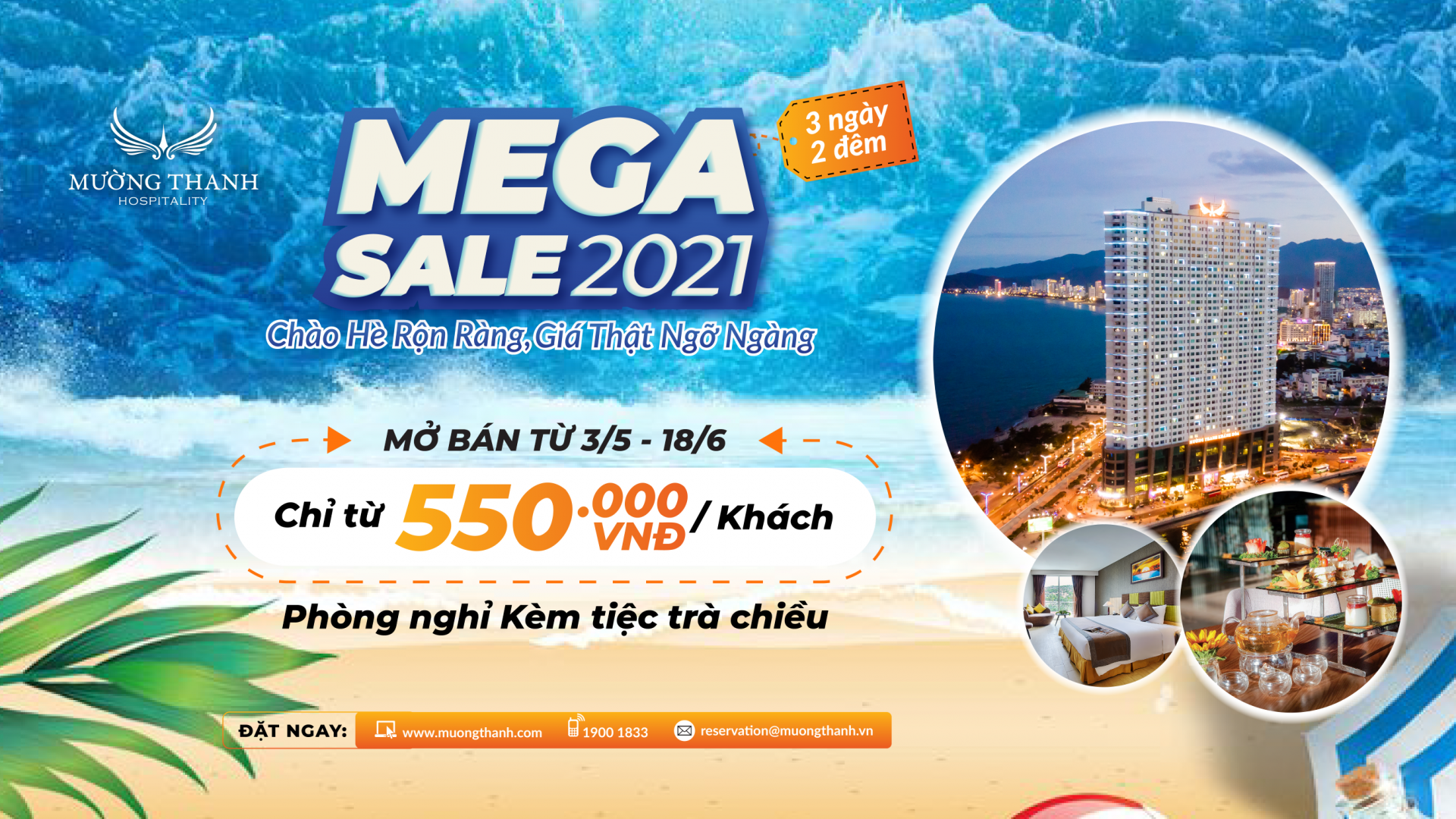 experience summer package mega sale 2021 at muong thanh