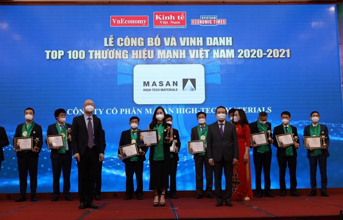 Masan High-Tech Materials honoured among 100 strongest Vietnamese brands