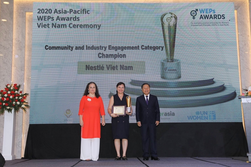 nestle vietnam receives two un women awards for advancing gender equality