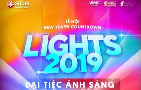 ho chi minh city count down to new year with lights 2019
