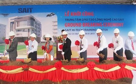hi tech training centre breaks ground in hcm city