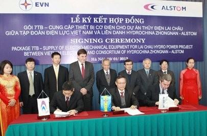 alstom to make equipment for lai chau hydropower plant