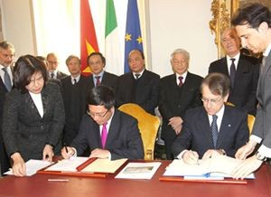 vietnam italy set up strategic partnership