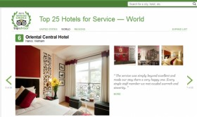 Five Hanoi hotels on TripAdvisor's list of those offering world's best service