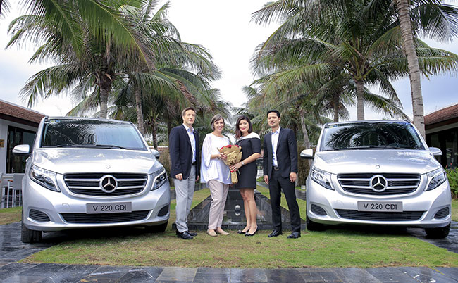 fusion maia danang uses mercedes benz v class in its premium chauffeur business