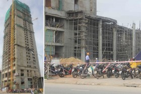 Labour accident at Luxury Apartment injures four