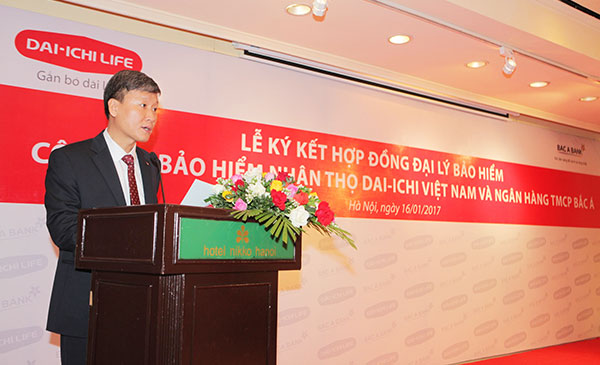 dai ichi life vietnam bac a bank signed bancassurance contract