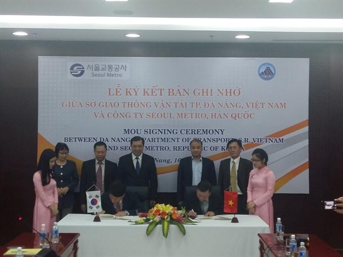 s korea da nang agree to develop urban railway system