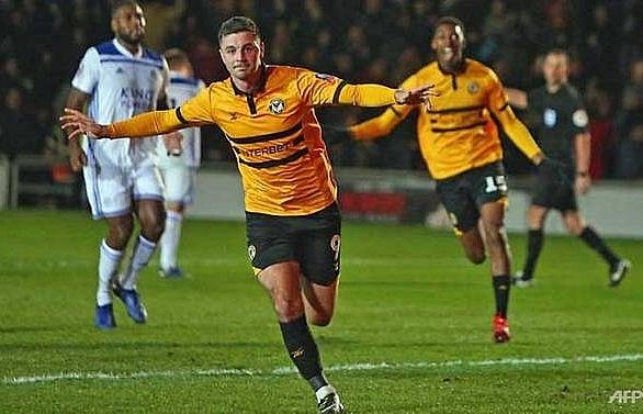 fourth tier newport stun premier league leicester 2 1 in fa cup