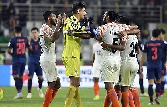 india post shock 4 1 win over thailand at asian cup
