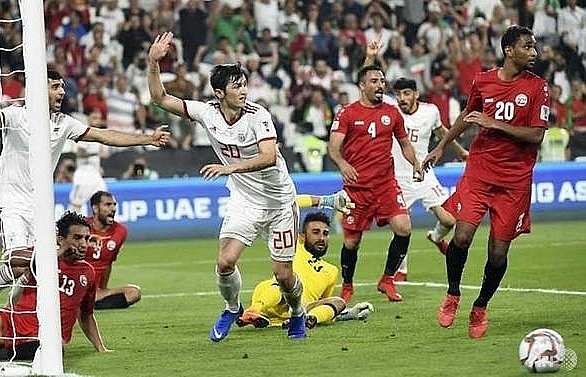 iran batter yemen as china south korea survive scares at asian cup