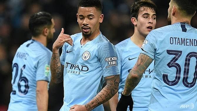 manchester city hit nine past burton to cruise towards league cup final
