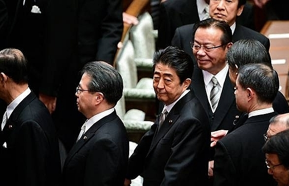 abe vows kim meeting to break shell of mutual distrust