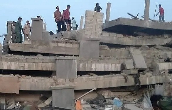 four killed in cambodia building collapse